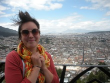 Emma Shull on el Panecillo overlooking the city of Quito, Ecuador.